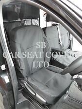 RENAULT TRAFIC VAN SEAT COVERS - 6 SEATER 2016 CREWCAB BLACK WATERPROOF