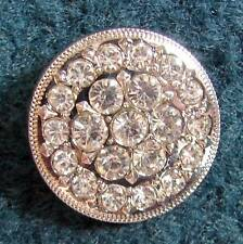 "1"" Round Concho iridescent crystals for Headstall Saddle Spurs Strap Chaps!"