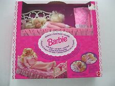 Rare1994 Bedtime Barbie Doll With Bed Set Foreign Issue NRFB
