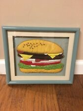 Heavy Duty 3D Box Frame Deep Picture Matted 3D Fabric Cheeseburger