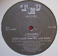 JOHN GIBBS W/ JAM BAND ~ J'OUVERT (1979) TEC RARE PRIVATE DISCO DRUM BREAKS 12""