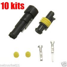 10 X 1 Pin forma Sellado impermeable Alambre eléctrico Conector Plug Auto Barco Auto