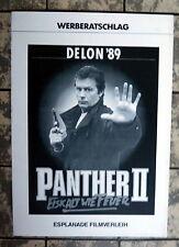 ALAIN DELON, MICHEL SERRAULT * PANTHER 2 -Werberatschlag - German Campaign1989