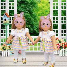 White Top Hose Puppenkleidung für 18 '' American Girl Doll Baby-Kind-Spielwaren