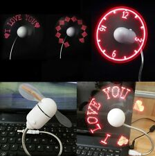Mini USB Programmable Flashing LED Light Messages Cooling Fan Cooler For PC