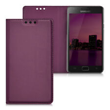 kwmobile Flip Cover Case für Samsung Galaxy S2 Violett Schutz Hülle Slim Etui