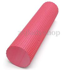 90x15cm RED EVA PHYSIO FOAM ROLLER YOGA PILATES EXERCISE BACK HOME GYM MASSAGE