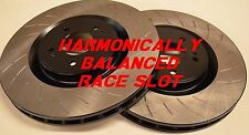 Fit 06-07 Mazdaspeed6 Harmonically Balanced Race Slotted Brake Rotors Front