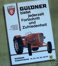 Älteres Blechschild Güldner Traktor Europa Reihe Reklame Werbung gebraucht used