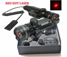 Red Dot laser Sight &Remote Switch&2 Mounts For Gun Rifle Scope Hunting