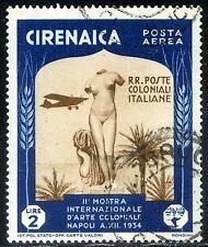Cirenaica 1934 Mostra Int. d'Arte Coloniale P.A. n. A29 - usato (m1208)
