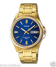 MTP-E111GB-2A Blue Gold Casio Men's Steel Watches Day and date indicator New