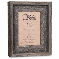 "5x7-2"" Wide Signature Reclaimed Rustic Barn Wood Picture Frame"