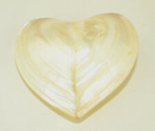 MOTHER OF PEARL MOP 3-D HEART 2 1/2 INCHES WIDE COASTAL DECOR