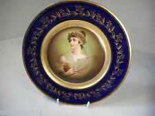 Hand Painted Porcelain Cabinet Plate , one of pair  ,  1702 26/6HS245xx