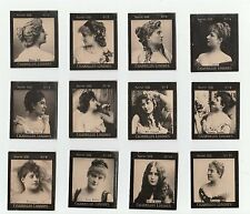 1900s Uruguay Tobacco Card S32 full set Cigarrillos Londres incl. Cleo De Merode