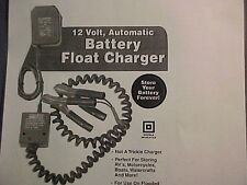 NEW BATTERY FLOAT CHARGER HEAVY DUTY CAR BOAT JET SNOWMOBILE AIRPLANE MOTORCYCLE