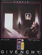 PUBLICITÉ PAPIER 1985 PARFUM YSATIS DE GIVENCHY - ADVERTISING