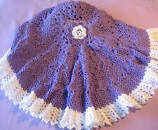 "CROCHET PATTERN for ""NADIA"" CIRCULAR BABY AFGHAN  by REBECCA LEIGH -- 44"" dia."