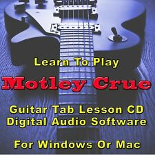 MOTLEY CRUE Guitar Tab Lesson CD Software - 76 Songs
