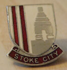 STOKE CITY Vintage SUPPORTERS CLUB badge Brooch pin in chrome 24mm x 26mm