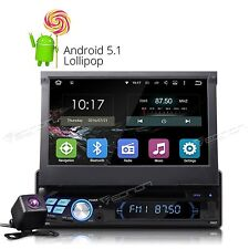 "Backup Camera+Single Din Android 5.1 7"" Car Stereo DVD Player GPS Touch Screen E"