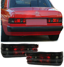 SMOKED REAR TAIL LIGHTS FOR MERCEDES 190 190E W201 MODEL NICE GIFT