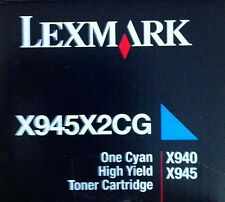 originale Lexmark Toner nuovo X945X2CG blu ciano per X940 X945 A-Ware