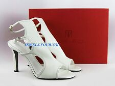 "TAMARA MELLON SHOES DESIGNER JIMMY CHOO CREAM NAPPA LEATHER 4"" HEEL SZ 11-41 NEW"
