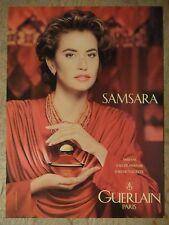 PUBLICITÉ 1985 SAMSARA DE GUERLAIN PARFUM EAU DE TOILETTE - ADVERTISING