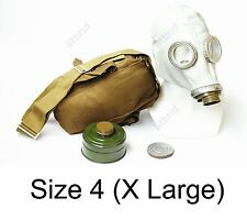 Russian military soviet Grey gas mask GP-5 with filter & bag. New 4 X large size