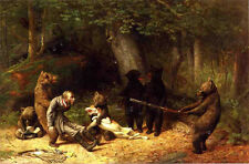 Making Game of the Hunter   by William Holbrook Beard   Paper Print  Repro