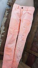 fire face * Jeans * Neon Orange * Flicken Sommer * Streetstyle Urban * W29 Gr 38