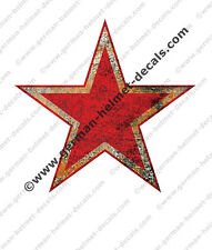 Pre aged Soviet Red Army WWII helmet Star decal for M-36 SSh-39 SSh-40 helmets