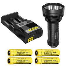 Nitecore TM16GT Flashlight, XP-L HI V3 LED w/SC2 Charger & 4x NL189 Batteries