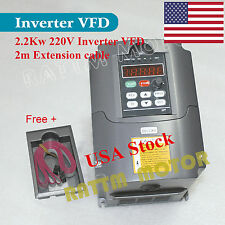 【USA Stock】 2.2KW 3HP Inverter VFD 10A HY Variable Frequency Drive 220V For CNC