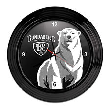 *NEW* Round Official Licensed Bundy Bundaberg Rum Clock Christmas Gift Man Cave