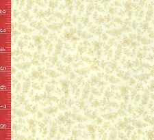 Creme FLORAL cotton FABRIC A.E. Nathan Mosaic quilt & sew SOLD by the1/2 yard