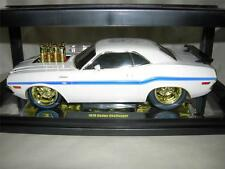 WHITE M2 70 DODGE CHALLENGER CHASE CAR IN LIMITED TO ONLY 100 PCS. .MIB 1:18