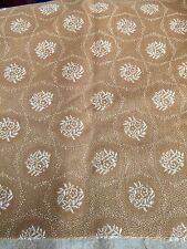 """VINTAGE 1950-60s GOLD LOOPED NYLON UPHOLSTERY FABRIC 50""""/128CM Wx1.4 M L"""