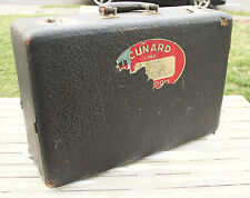 """Vintage Black Crown Suitcase Luggage 18""""X 12""""X 6"""" Carry On Funky Project Piece"""