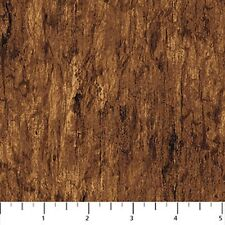 Northcott Mountain Springs 21320 34 Wood Texture BTY Cotton Fabric