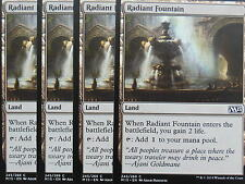 XXX 4x RADIANT FOUNTAIN englisch magic 2015 M15 (lifegain land) NM/MINT XXX XXX