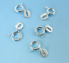 Set of (5) STERLING SILVER Spring Ring CLASP 5mm with Stamped Italy Tag