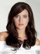 100% Real Human Hair! Women's Dark Brown Natural Wavy Wig Hair