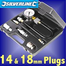 Silverline Petrol Engine Compression Tester piston ring cylinder car motorcycle