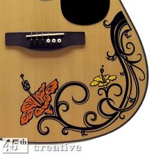 Hibiscus Flower acoustic guitar Decal  fender starcaster squire custom sticker