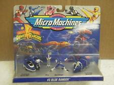 AUTO MORPHIN POWER RANGERS MICRO MACHINES- #3 BLUE RANGER- NEW IN PACKAGE- L173
