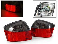 DEPO 2002-2005 AUDI A4 / S4 B6 CHASSIS 4D SEDAN RED / SMOKE LED TAIL LIGHTS 8E