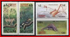 BANGLADESH 1991 ANIMALS & BIRD SC#390-93 MNH CV$14.00 MONKEY, HORNBILL (E15)